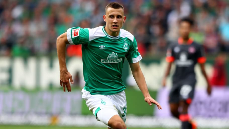 BREMEN, GERMANY - SEPTEMBER 16:  Maximilian Eggestein of Bremen runs with the ball during the Bundesliga match between SV Werder Bremen and 1. FC Nuernberg at Weserstadion on September 16, 2018 in Bremen, Germany.  (Photo by Martin Rose/Bongarts/Getty Images)