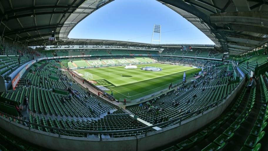 BREMEN, GERMANY - MAY 05: A general view of the stadium prior to the Bundesliga match between SV Werder Bremen and Bayer 04 Leverkusen at Weserstadion on May 5, 2018 in Bremen, Germany. (Photo by Thomas Starke/Bongarts/Getty Images)