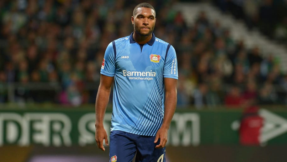 BREMEN, GERMANY - OCTOBER 28: Jonathan Tah of Bayer 04 Leverkusen looks on during the Bundesliga match between SV Werder Bremen and Bayer 04 Leverkusen at Weserstadion on October 28, 2018 in Bremen, Germany. (Photo by TF-Images/Getty Images)
