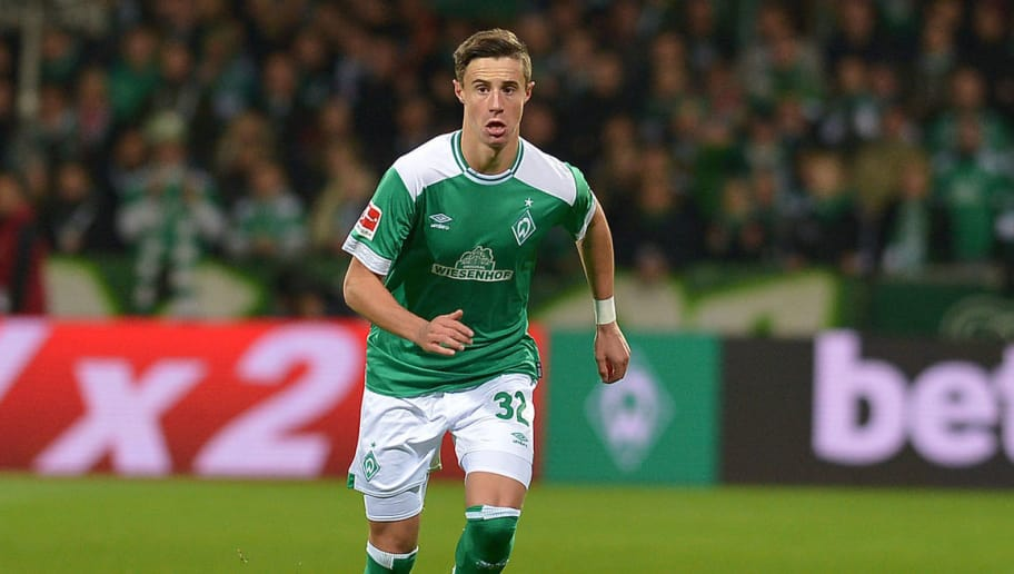 BREMEN, GERMANY - OCTOBER 28: Marco Friedl of Werder Bremen controls the ball during the Bundesliga match between SV Werder Bremen and Bayer 04 Leverkusen at Weserstadion on October 28, 2018 in Bremen, Germany. (Photo by TF-Images/Getty Images)