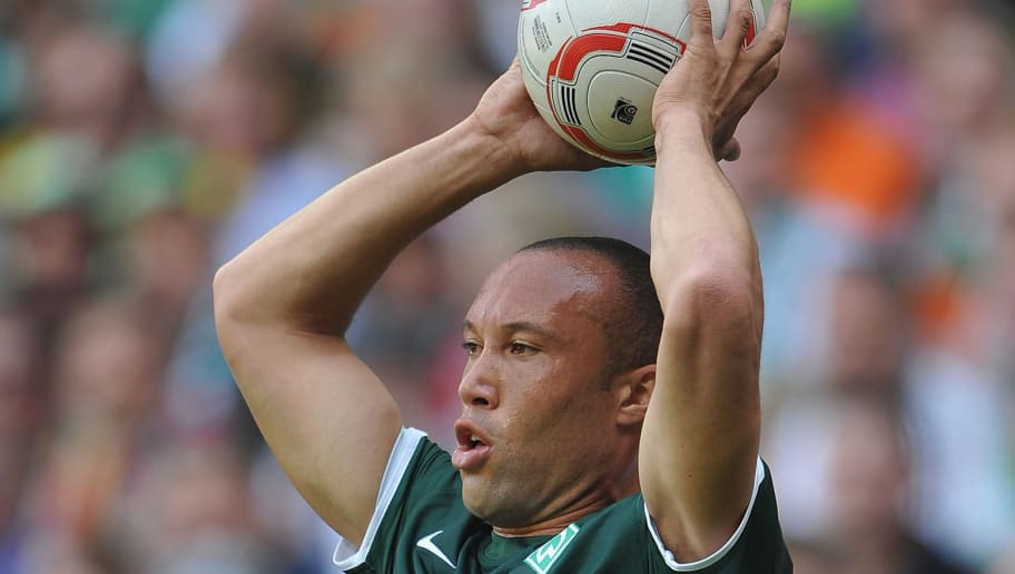 BREMEN, GERMANY - MAY 07:  Mikael Silvestre of Bremen during the Bundesliga match between SV Werder Bremen and  Borussia Dortmund at Weser Stadium on May 7, 2011 in Bremen, Germany.  (Photo by Stuart Franklin/Bongarts/Getty Images)
