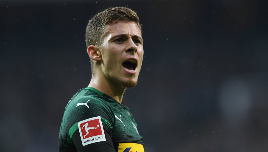 BREMEN, GERMANY - NOVEMBER 10: Thorgan Hazard of Borussia Moenchengladbach gesticulated during the Bundesliga match between SV Werder Bremen and Borussia Moenchengladbach at Weserstadion on November 10, 2018 in Bremen, Germany. (Photo by Oliver Hardt/Bongarts/Getty Images)