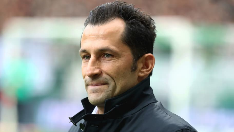 BREMEN, GERMANY - DECEMBER 01:  Hasan Salihamidzic, Sports Director of Bayern Munich looks on prior to the Bundesliga match between SV Werder Bremen and FC Bayern Muenchen at Weserstadion on December 1, 2018 in Bremen, Germany.  (Photo by Martin Rose/Bongarts/Getty Images)