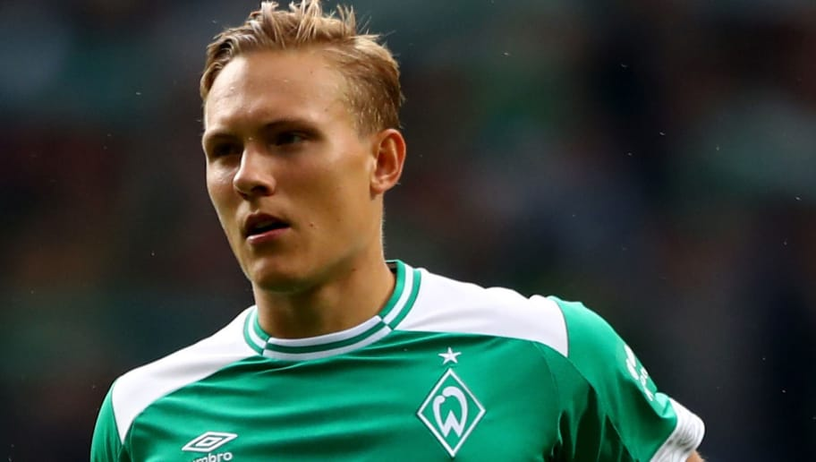 BREMEN, GERMANY - AUGUST 25:  Ludwig Augustinsson of Bremen runs  during the Bundesliga match between SV Werder Bremen and Hannover 96 at Weserstadion on August 25, 2018 in Bremen, Germany.  (Photo by Martin Rose/Bongarts/Getty Images)