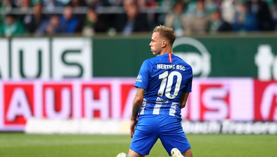 BREMEN, GERMANY - SEPTEMBER 25:  Ondrej Duda of Hertha BSC looks on after a missed chance during the Bundesliga match between SV Werder Bremen and Hertha BSC at Weserstadion on September 25, 2018 in Bremen, Germany.  (Photo by Martin Rose/Bongarts/Getty Images)