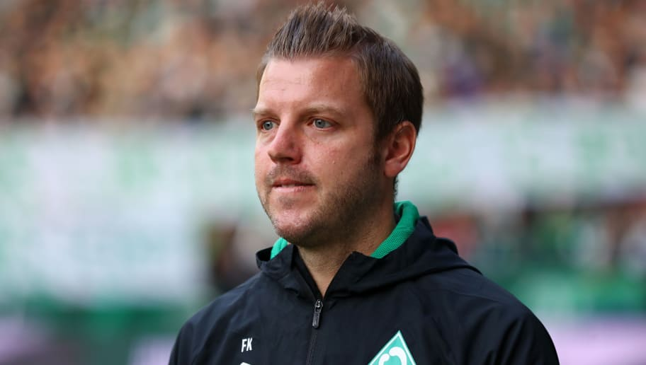 BREMEN, GERMANY - SEPTEMBER 25:  Florian Kohfeldt, Manager of Werder Bremen looks on prior to the Bundesliga match between SV Werder Bremen and Hertha BSC at Weserstadion on September 25, 2018 in Bremen, Germany.  (Photo by Martin Rose/Bongarts/Getty Images)