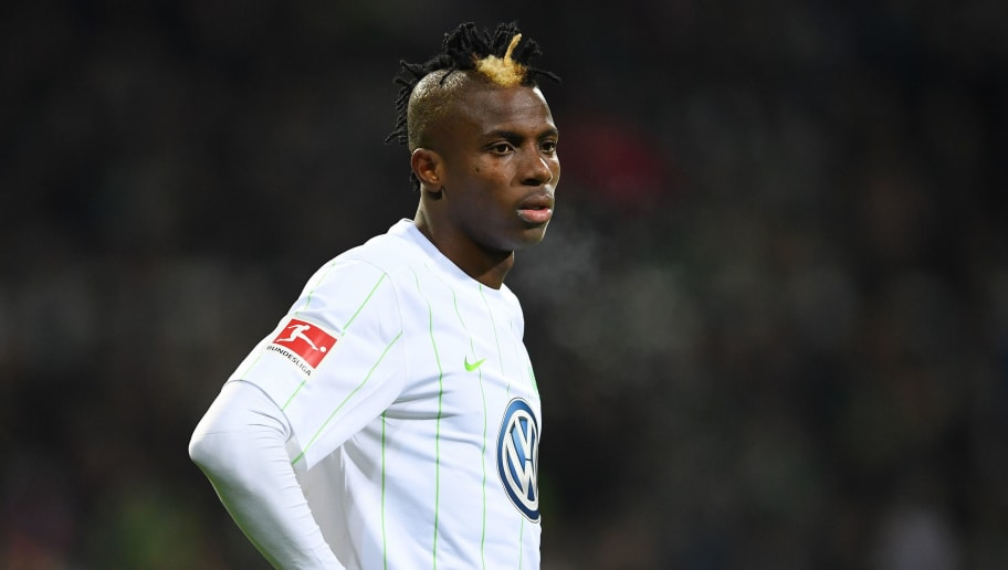 BREMEN, GERMANY - FEBRUARY 11:  Victor Osimhen of Wolfsburg  looks dejected during the Bundesliga match between SV Werder Bremen and VfL Wolfsburg at Weserstadion on February 11, 2018 in Bremen, Germany.  (Photo by Stuart Franklin/Bongarts/Getty Images)