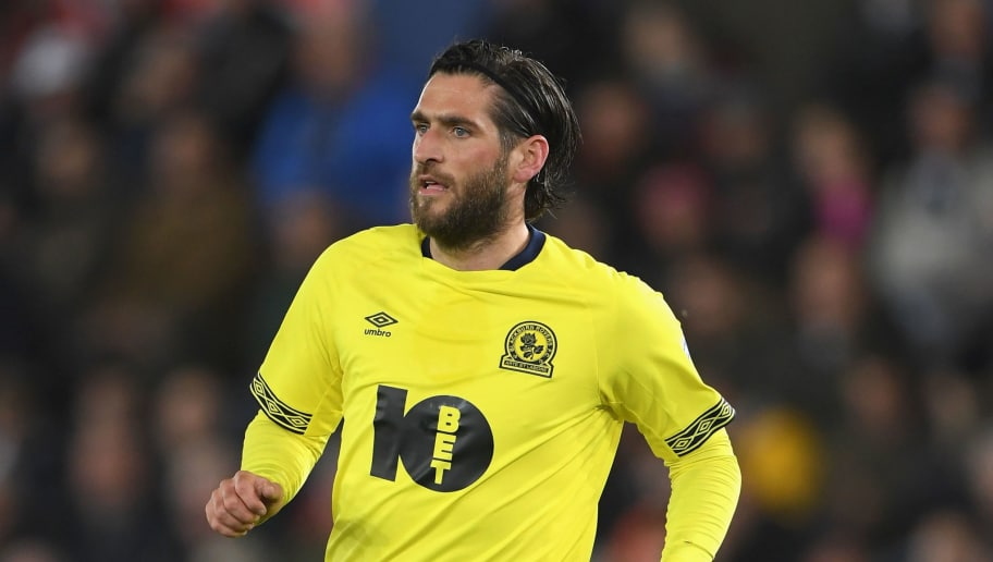 SWANSEA, WALES - OCTOBER 23:  Blackburn striker Danny Graham in action during the Sky bet Championship EFL match between Swansea City v Blackburn Rovers at Liberty Stadium on October 23, 2018 in Swansea, Wales.  (Photo by Stu Forster/Getty Images)