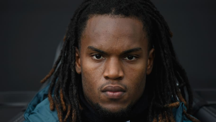 SWANSEA, WALES - APRIL 28:  Swansea player Renato Sanches looks on before the Premier League match between Swansea City and Chelsea at Liberty Stadium on April 28, 2018 in Swansea, Wales.  (Photo by Stu Forster/Getty Images)