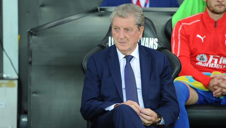 SWANSEA, WALES - AUGUST 28: Roy Hodgson Manager of Crystal Palace during the Carabao Cup Second Round match between Swansea City and Crystal Palace at Liberty Stadium on August 28, 2018 in Swansea, Wales. (Photo by Athena Pictures/Getty Images)