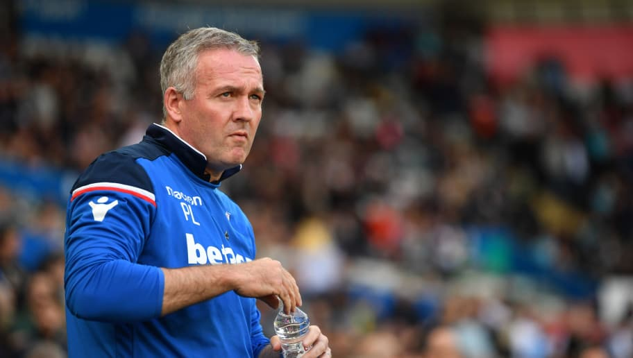 SWANSEA, WALES - MAY 13:  Paul Lambert, Manager of Stoke City looks on prior to the Premier League match between Swansea City and Stoke City at Liberty Stadium on May 13, 2018 in Swansea, Wales.  (Photo by Dan Mullan/Getty Images)
