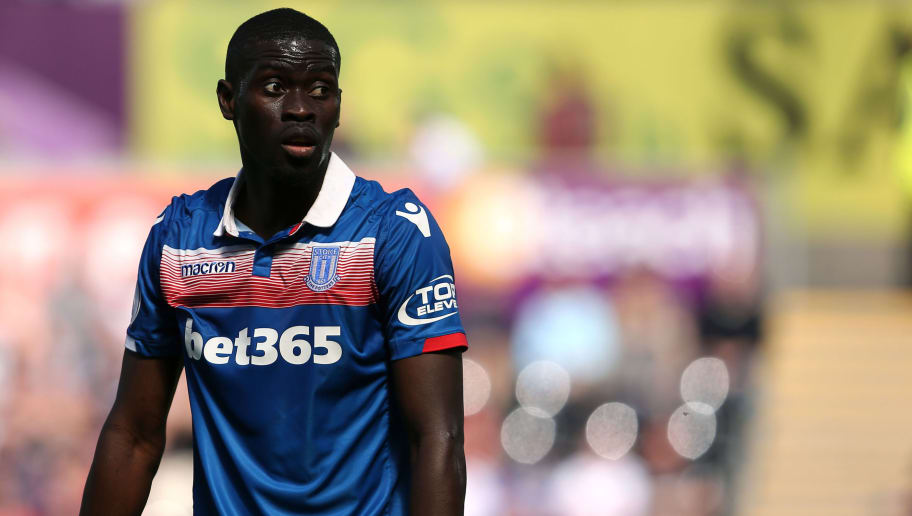 SWANSEA, WALES - MAY 13: Badou Ndiaye of Stoke City during the Premier League match between Swansea City and Stoke City at Liberty Stadium on May 13, 2018 in Swansea, Wales. (Photo by James Williamson - AMA/Getty Images)