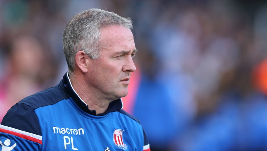 SWANSEA, WALES - MAY 13: Stoke City manager Paul Lambert during the Premier League match between Swansea City and Stoke City at Liberty Stadium on May 13, 2018 in Swansea, Wales. (Photo by James Williamson - AMA/Getty Images)