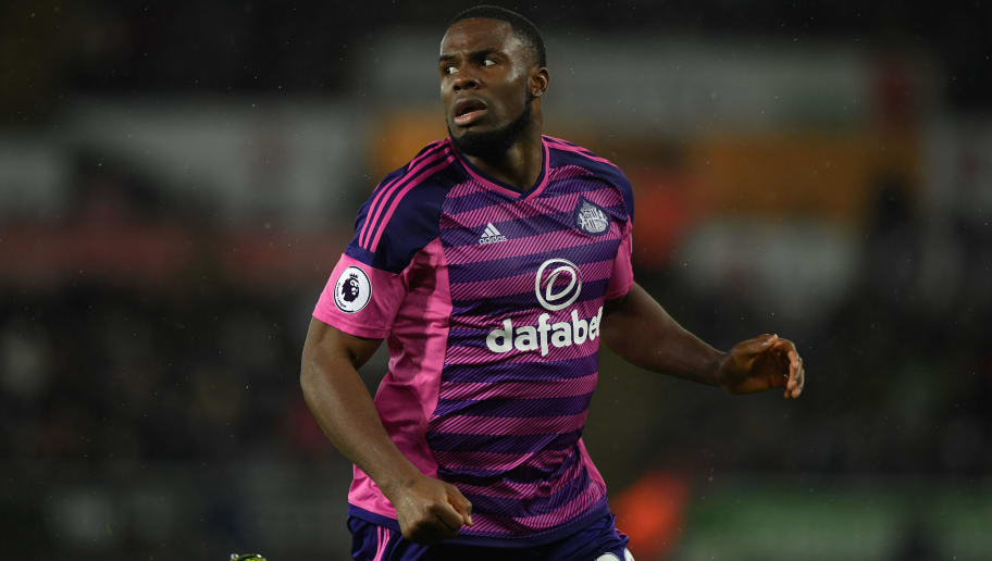 SWANSEA, WALES - DECEMBER 10:  Victor Anichebe of Sunderland in action during the Premier League match between Swansea City and Sunderland at Liberty Stadium on December 10, 2016 in Swansea, Wales.  (Photo by Stu Forster/Getty Images)