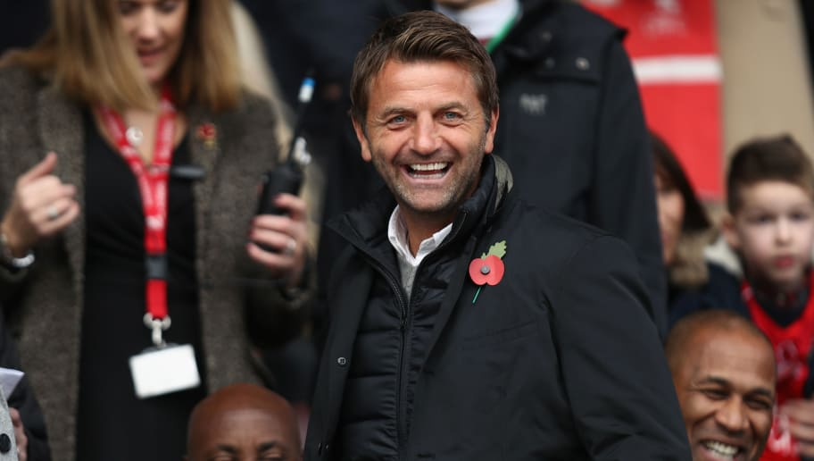 SWINDON, ENGLAND - NOVEMBER 12:  Swindon Town Director of Football Tim Sherwood looks on prior to the Sky Bet League One match between Swindon Town and Charlton Athletic at County Ground on November 12, 2016 in Swindon, England.  (Photo by Bryn Lennon/Getty Images)
