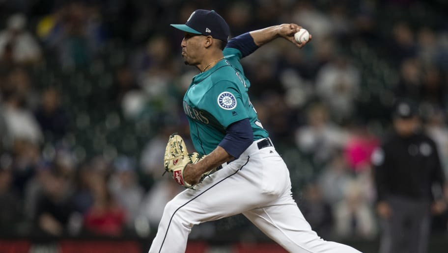 SEATTLE, WA - JUNE 1: Reliever Edwin Diaz #39 of the Seattle Mariners delivers a pitch during the ninth inning of a game against the Tampa Bay Rays at Safeco Field on June 1, 2018 in Seattle, Washington. (Photo by Stephen Brashear/Getty Images)