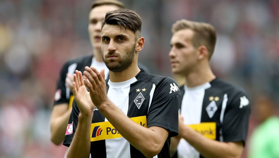 MOENCHENGLADBACH, GERMANY - JULY 15: Vincenzo Grifo of Moenchengladbach is seen after the Telekom Cup 2017 3rd place match between Borussia Moenchengladbach and TSG Hoffenheim at Borussia Park on July 15, 2017 in Moenchengladbach, Germany.  (Photo by Lars Baron/Bongarts/Getty Images)