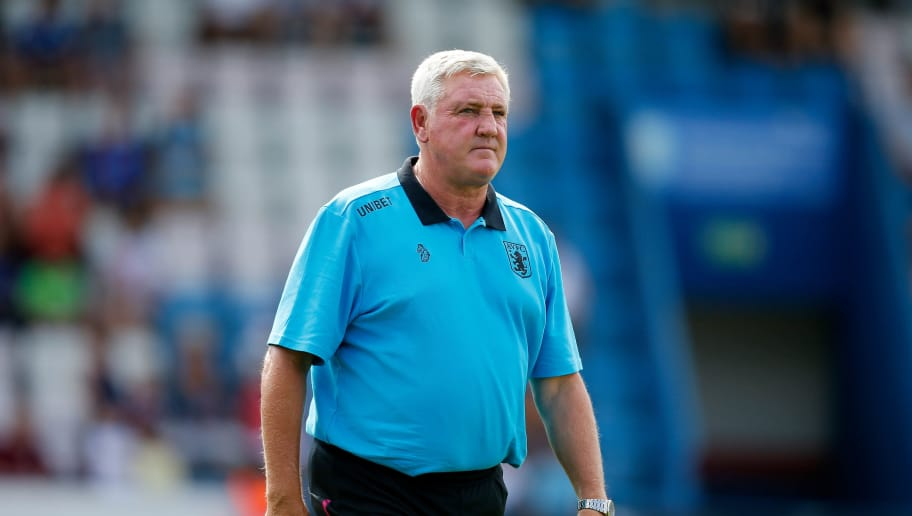 TELFORD, ENGLAND - JULY 14: Aston Villa manager Steve Bruce looks on during the Pre-season friendly between AFC Telford United and Aston Villa at New Bucks Head Stadium on July 14, 2018 in Telford, England. (Photo by Malcolm Couzens/Getty Images)