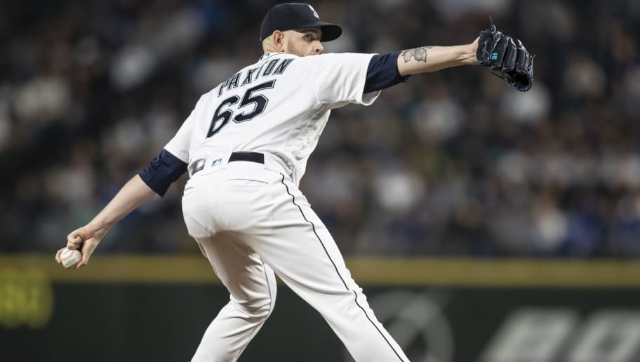 SEATTLE, WA - SEPTEMBER 29: Starter James Paxton #65 of the Seattle Mariners delivers a pitch during a game against the Texas Rangers at Safeco Field on September 29, 2018 in Seattle, Washington. The Mariners won the game 4-1. (Photo by Stephen Brashear/Getty Images)