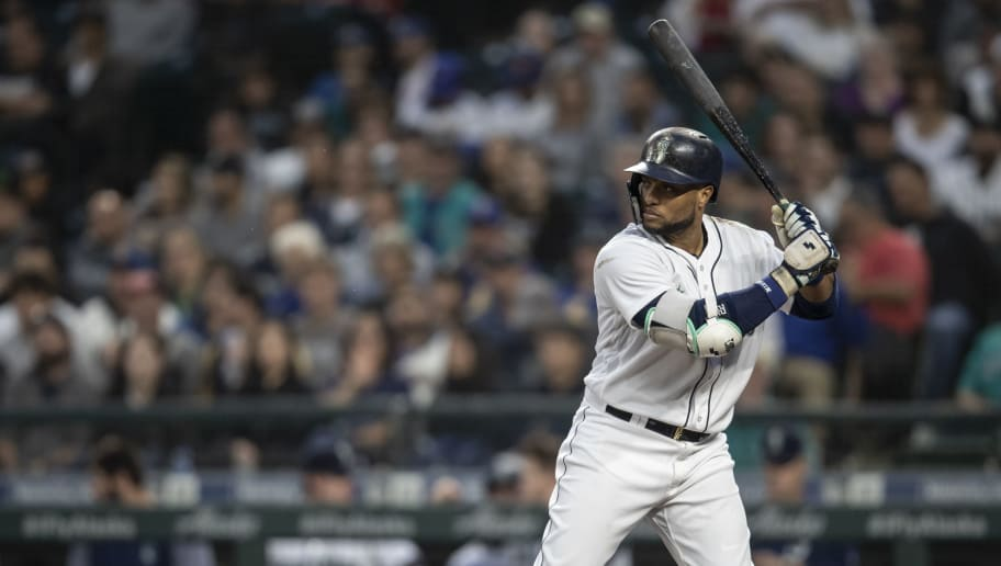 SEATTLE, WA - SEPTEMBER 29: Robinson Cano #22 of the Seattle Mariners waits for a pitch during an at-bat in a game against the Texas Rangers at Safeco Field on September 29, 2018 in Seattle, Washington. The Mariners won the game 4-1. (Photo by Stephen Brashear/Getty Images)