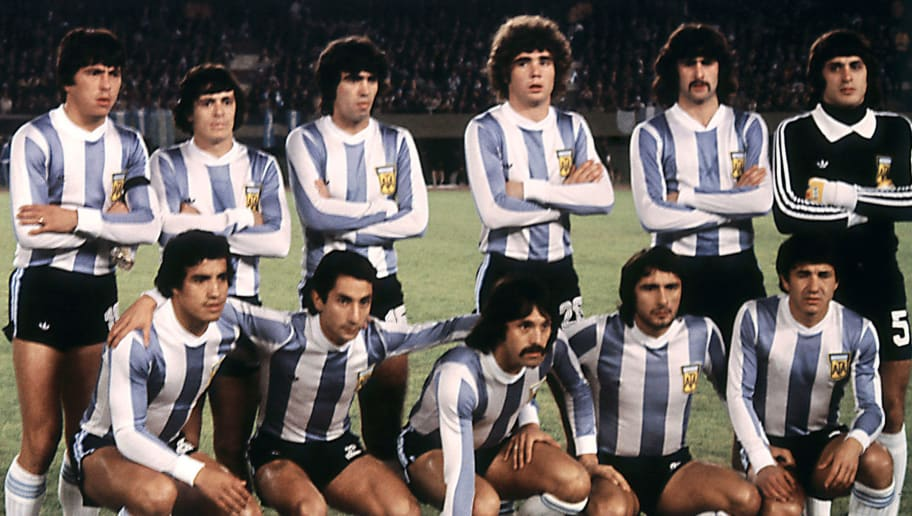 The Argentinian national soccer team bef