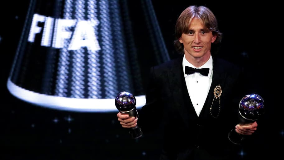 LONDON, ENGLAND - SEPTEMBER 24:  Luka Modric of Real Madrid poses for a photo during the The Best FIFA Football Awards Show at Royal Festival Hall on September 24, 2018 in London, England.  (Photo by Dan Istitene/Getty Images)
