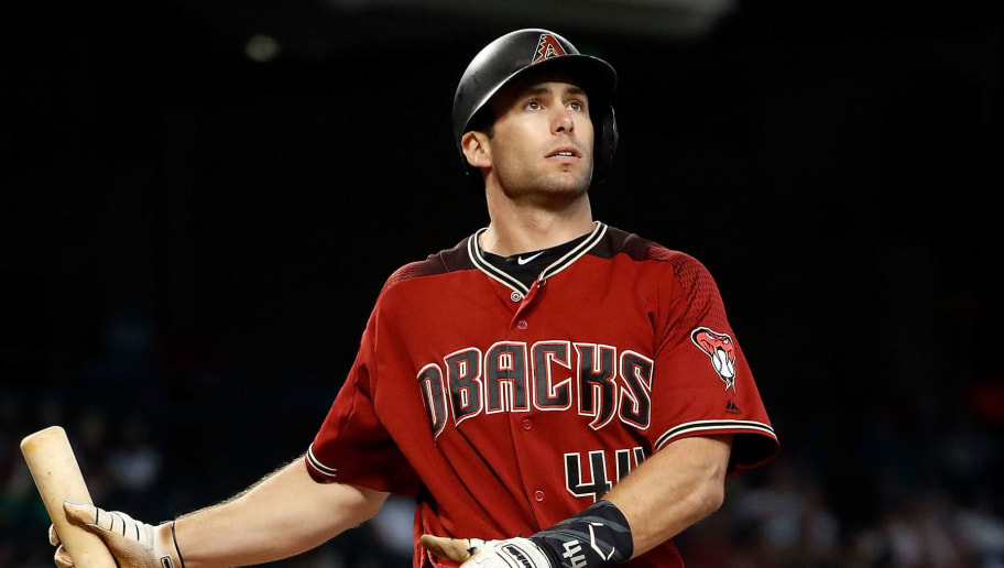 PHOENIX, AZ - SEPTEMBER 23: Paul Goldschmidt #44 of the Arizona Diamondbacks bats during the bottom of the eighth inning at Chase Field against the Colorado Rockies on September 23, 2018 in Phoenix, Arizona. The Rockies beat the Diamondbacks 2-0. (Photo by Chris Coduto/Getty Images)