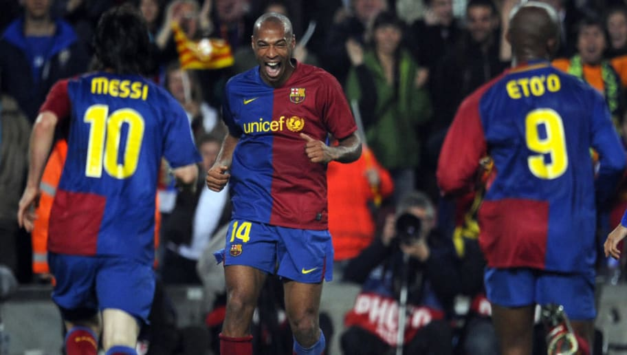 Barcelona´s French forward Thierry Henry