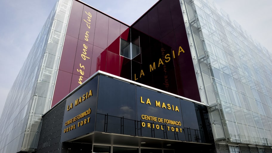 This pictured shows the new building named 'La Masia' training centre Oriol Tort where young players of the Barcelona football club live and train, near the Camp Nou stadium in Barcelona  on August 5, 2011 .  AFP PHOTO/ JOSEP LAGO (Photo credit should read JOSEP LAGO/AFP/Getty Images)