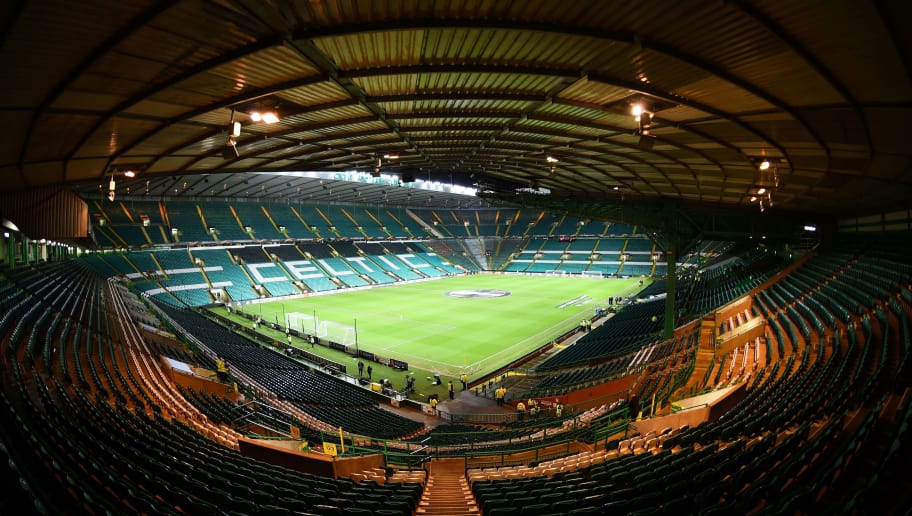 TOPSHOT - A general view of the stadium is pictured before the UEFA Europa League football match between Celtic and Zenit Saint Petersburg at Celtic Park stadium in Glasgow, Scotland on February 15, 2018. / AFP PHOTO / ANDY BUCHANAN        (Photo credit should read ANDY BUCHANAN/AFP/Getty Images)