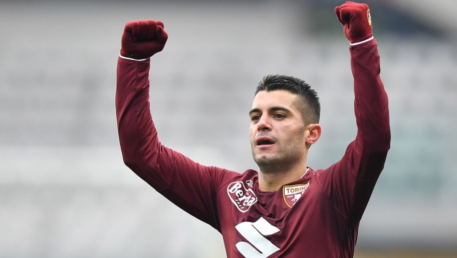 TURIN, ITALY - JANUARY 06:  Iago Falque of Torino FC celebrates a goal during the serie A match between Torino FC and Bologna FC at Stadio Olimpico di Torino on January 6, 2018 in Turin, Italy.  (Photo by Valerio Pennicino/Getty Images)