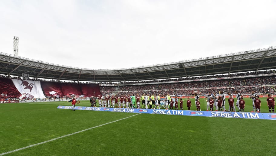 TURIN, ITALY - APRIL 26:  A general view prior to the Serie A match between Torino FC and Juventus FC at Stadio Olimpico di Torino on April 26, 2015 in Turin, Italy.  (Photo by Valerio Pennicino/Getty Images)
