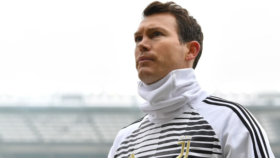 TURIN, ITALY - FEBRUARY 18:  Stephan Lichtsteiner of Juventus looks on during the Serie A match between Torino FC and Juventus at Stadio Olimpico di Torino on February 18, 2018 in Turin, Italy.  (Photo by Valerio Pennicino/Getty Images)