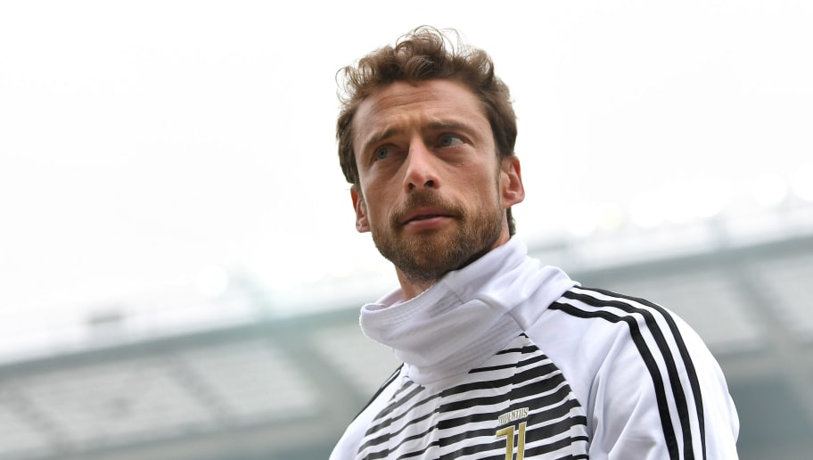 TURIN, ITALY - FEBRUARY 18:  Claudio Marchisio of Juventus looks on during the Serie A match between Torino FC and Juventus at Stadio Olimpico di Torino on February 18, 2018 in Turin, Italy.  (Photo by Valerio Pennicino/Getty Images)