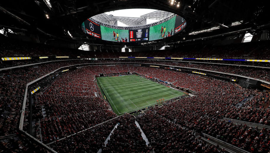 ATLANTA, GA - OCTOBER 22:  A general view of Mercedes-Benz Stadium during the match between the Atlanta United and the Toronto FC on October 22, 2017 in Atlanta, Georgia.  (Photo by Kevin C. Cox/Getty Images)