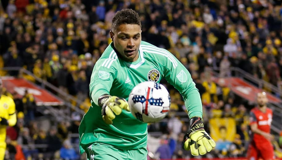 COLUMBUS, OH - NOVEMBER 21:  Zack Steffen #23 of the Columbus Crew SC makes a save during the match against the Toronto FC at MAPFRE Stadium on November 21, 2017 in Columbus, Ohio. Columbus tied Toronto 0-0. (Photo by Kirk Irwin/Getty Images)
