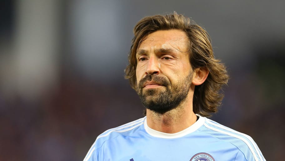 NEW YORK, NY - MARCH 13: Andrea Pirlo #21 of New York City FC looks on during the match against the Toronto FC at Yankee Stadium on March 13, 2016 in the Bronx borough of New York City. (Photo by Mike Stobe/Getty Images)
