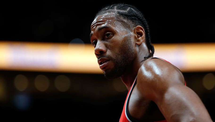 PORTLAND, OR - DECEMBER 14:  Kawhi Leonard #2 of the Toronto Raptors in action against the Portland Trail Blazers at Moda Center on December 14, 2018 in Portland, Oregon. NOTE TO USER: User expressly acknowledges and agrees that, by downloading and or using this photograph, User is consenting to the terms and conditions of the Getty Images License Agreement.  (Photo by Jonathan Ferrey/Getty Images)