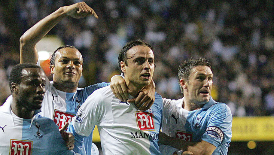 Tottenham Hotspur's Dimitar Berbatov (C)
