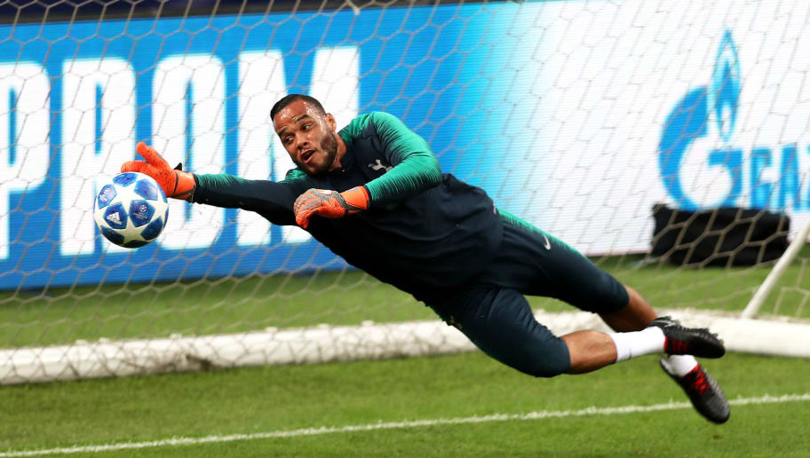 MILAN, ITALY - SEPTEMBER 17:  Michel Vorm of Tottenham Hotspur takes part during the Tottenham Hotspur training session at San Siro Stadium on September 17, 2018 in Milan, Italy.  (Photo by Dan Istitene/Getty Images)