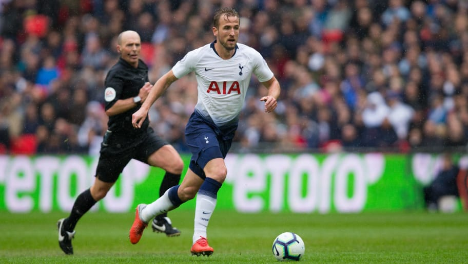 LONDON, ENGLAND - OCTOBER 06: Harry Kane of Tottenham Hotspur in action during the Premier League match between Tottenham Hotspur and Cardiff City at Tottenham Hotspur Stadium on October 6, 2018 in London, United Kingdom. (Photo by Craig Mercer/MB Media/Getty Images)