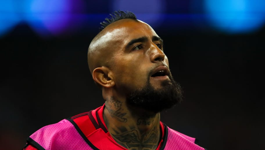 LONDON, ENGLAND - OCTOBER 03: Arturo Vidal of FC Barcelona during the Group B match of the UEFA Champions League between Tottenham Hotspur and FC Barcelona at Wembley Stadium on October 3, 2018 in London, United Kingdom. (Photo by Matthew Ashton - AMA/Getty Images)