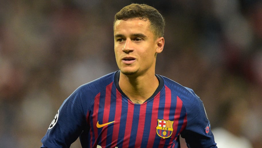 LONDON, ENGLAND - OCTOBER 03: Philippe Coutinho of Barcelona looks on duringthe Group B match of the UEFA Champions League between Tottenham Hotspur and FC Barcelona at Wembley Stadium on October 3, 2018 in London, United Kingdom. (Photo by TF-Images/TF-Images via Getty Images)