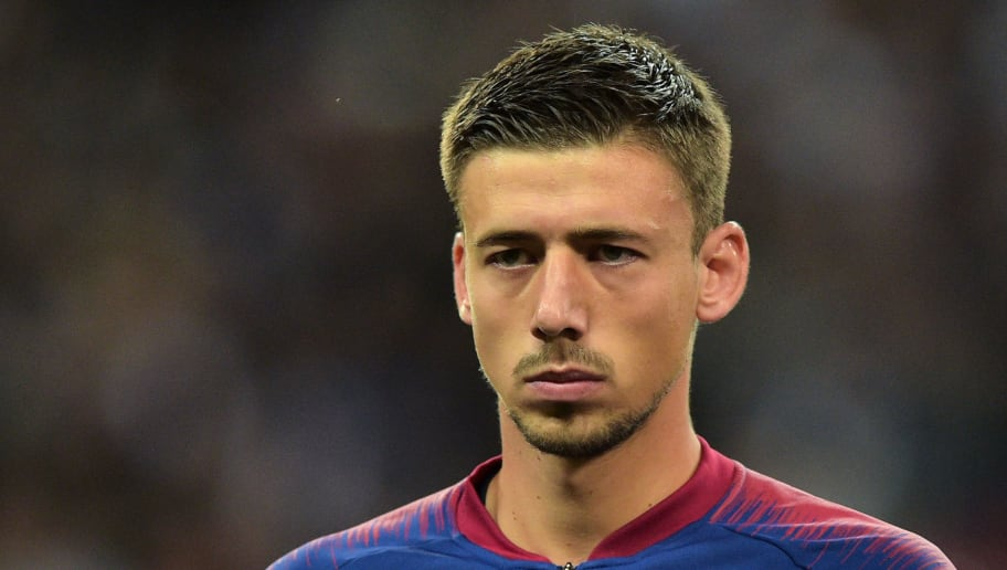 LONDON, ENGLAND - OCTOBER 03: Clément Lenglet of Barcelona looks on duringthe Group B match of the UEFA Champions League between Tottenham Hotspur and FC Barcelona at Wembley Stadium on October 3, 2018 in London, United Kingdom. (Photo by TF-Images/TF-Images via Getty Images)