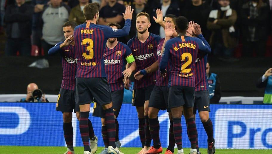 Barcelona 4 2 Sevilla Report Ratings Reaction As Barca Go Top Of