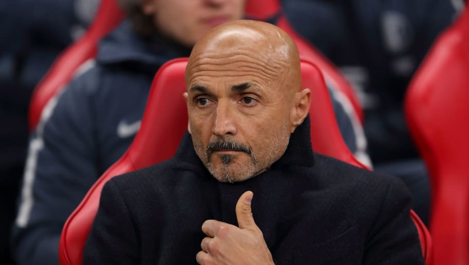 LONDON, ENGLAND - NOVEMBER 28: FC Internazionale manager \ head coach Luciano Spalletti during the Group B match of the UEFA Champions League between Tottenham Hotspur and FC Internazionale at Wembley Stadium on November 28, 2018 in London, United Kingdom. (Photo by James Williamson - AMA/Getty Images)