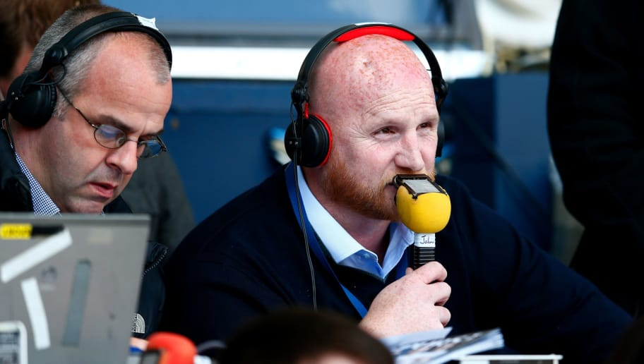 LONDON, ENGLAND - MAY 16:  John Hartson commentates during the Barclays Premier League match between  Tottenham Hotspur and Hull City at White Hart Lane on May 16, 2015 in London, England.  (Photo by Julian Finney/Getty Images)