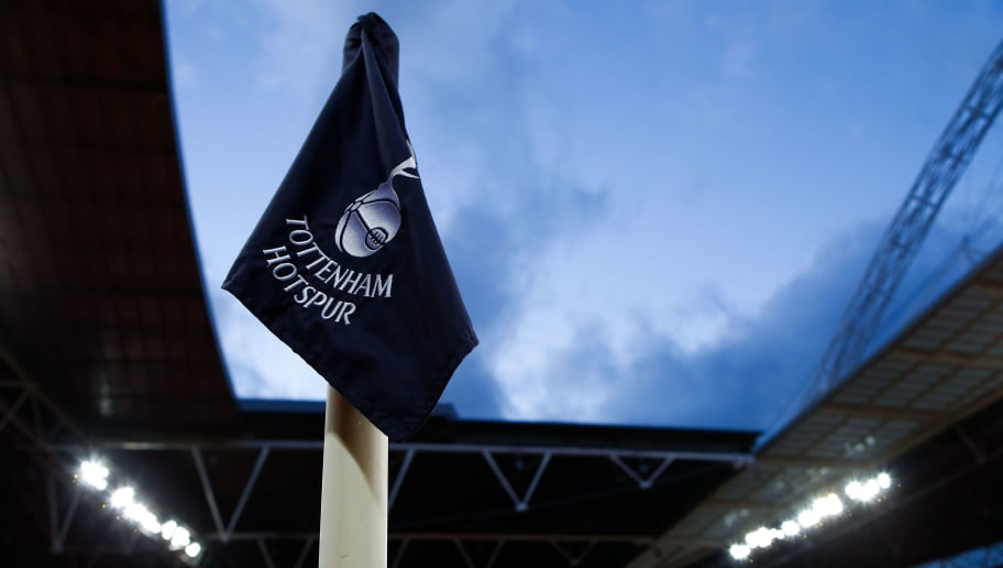 LONDON, ENGLAND - MARCH 07: a corner flag is seen prior to the UEFA Champions League Round of 16 Second Leg match between Tottenham Hotspur and Juventus at Wembley Stadium on March 7, 2018 in London, United Kingdom.  (Photo by Julian Finney/Getty Images)