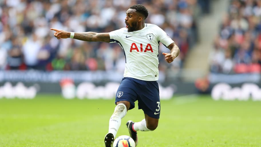 LONDON, ENGLAND - MAY 13:  Danny Rose of Tottenham Hotspur in action during the Premier League match between Tottenham Hotspur and Leicester City at Wembley Stadium on May 13, 2018 in London, England.  (Photo by Warren Little/Getty Images)