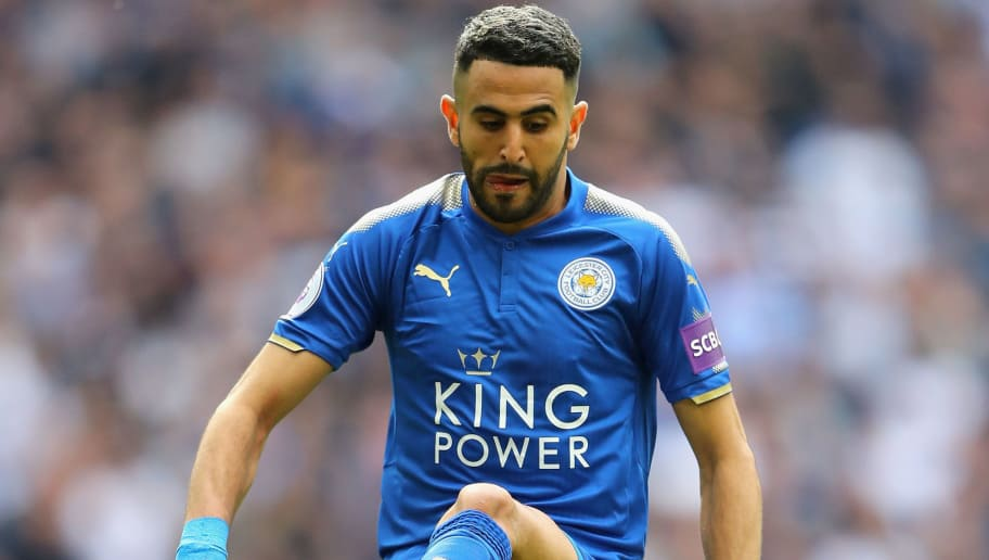 LONDON, ENGLAND - MAY 13:  Riyad Mahrez of Leicester City in action during the Premier League match between Tottenham Hotspur and Leicester City at Wembley Stadium on May 13, 2018 in London, England.  (Photo by Warren Little/Getty Images)